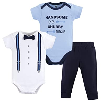 5d54b9d4f Amazon.com  Hudson Baby Baby Boys  Bodysuit and Pant Set  Clothing