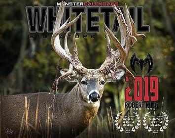 Amazon Com 2019 Whitetail Deer Calendar Of Giant Bucks By Monster