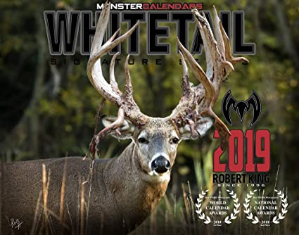 Amazoncom 2019 Whitetail Deer Calendar Of Giant Bucks By Monster