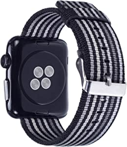 Pantheon Compatible Apple Watch Band 42mm 44mm Nylon - Compatible iWatch Bands / Strap for Women or Men Fits Series SE 6 5 4 3 2 1