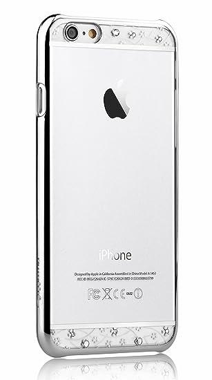 new style 62a9e 54da2 Comma New Arrival Luxury Bling Swarovski Elements Diamond Back Cover Case  for Iphone 6 Plus / Iphone 6s Plus (Silver)