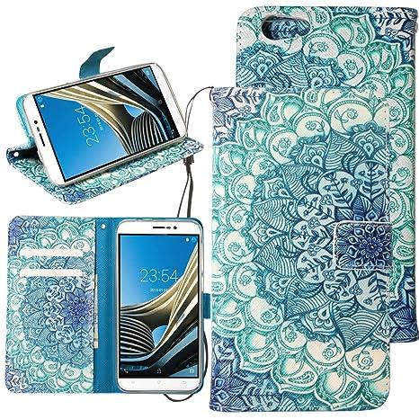 Dooki,Cubot Note S, Estar Flip PU Cuero Billetera Caso Carcasa para Cubot Note S con Crédito Tarjeta Poseedor Espacio