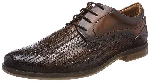 312417021100, Zapatos de Cordones Derby para Hombre, Marrón (Cognac 6300), 42 EU Bugatti