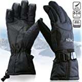 Waterproof Mens Ski Gloves, Breathable Windproof Warm Skiing Snowboard Gloves, Winter Cold Weather Thinsulate Glove
