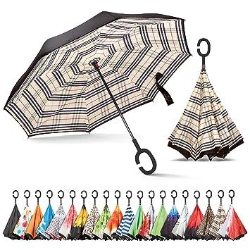 Amazon.com: Sharpty Paraguas invertido, paraguas resistente ...