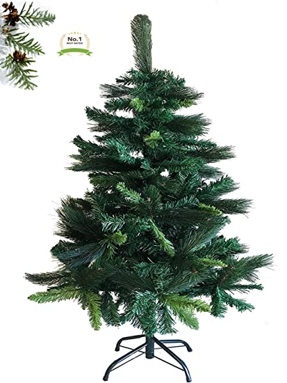 prestige spruce artificial pine christmas tree with metal stand 4 ft eco friendly xmas holiday