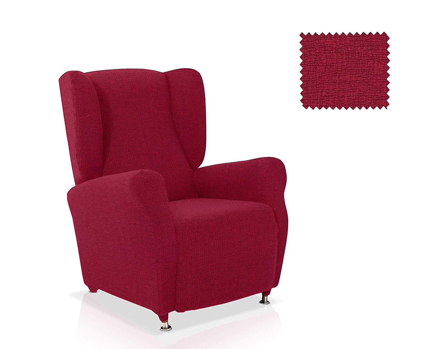 JM Textil Air Wing Chair Cover Standard Size in Red Belmarti