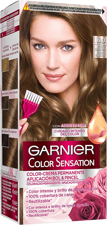 Garnier Color Sensation coloración permanente e intensa reutilizable con bol y pincel - 6.0 Rubio Oscuro