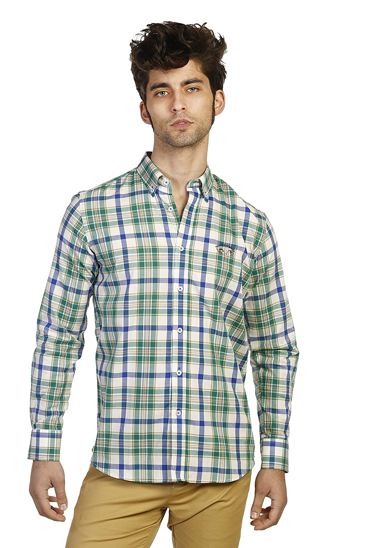 S THE TIME OF BOCHA Man Shirt Boton Multicolourouge