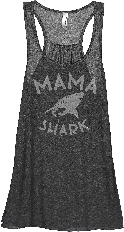 Mama Shark Women's Sleeveless Flowy Racerback Tank Top