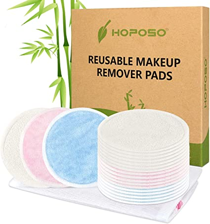 Discos Desmaquillantes Reutilizables de Bambú 20Pcs Zero Waste ...