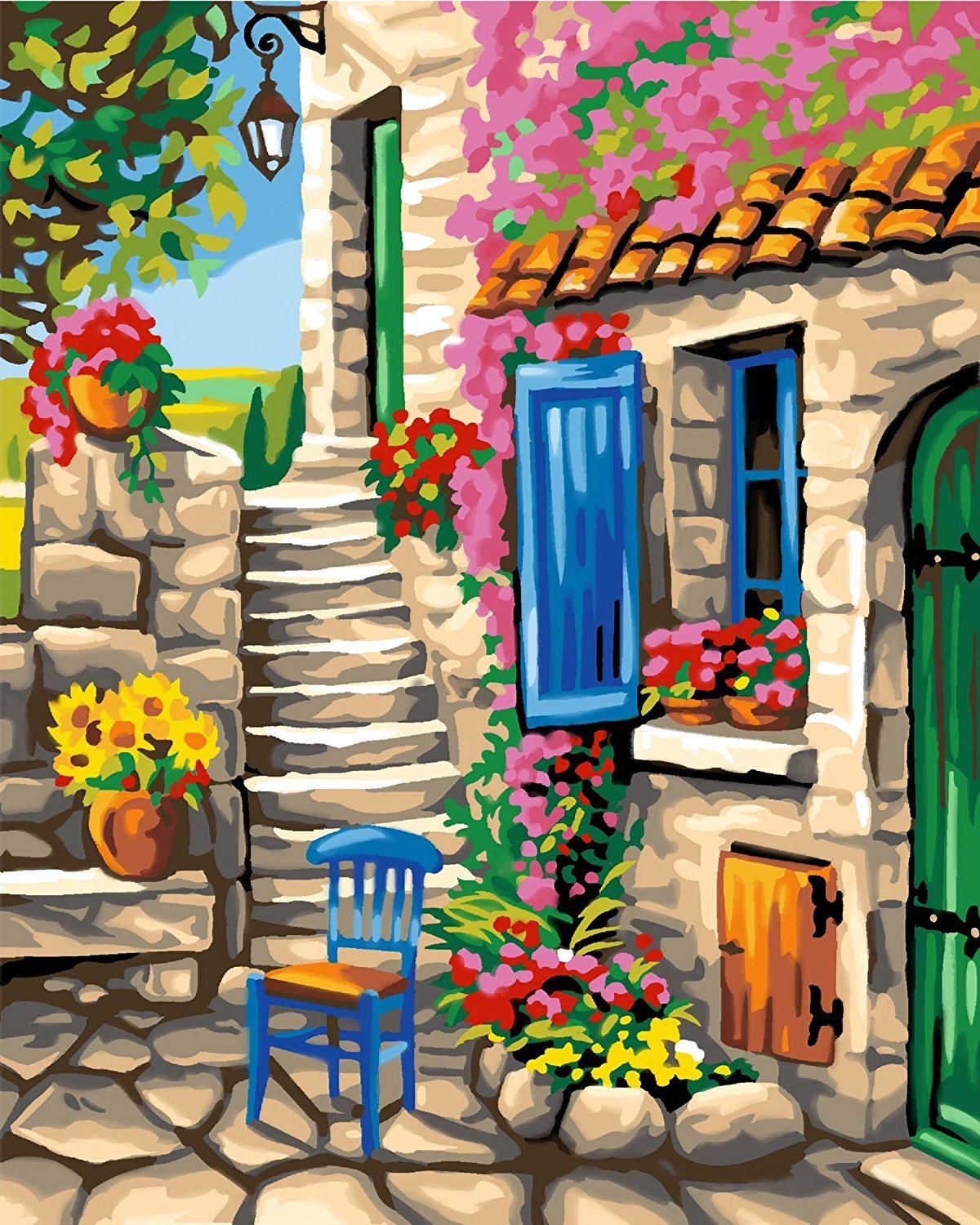 Creative Painting By Scene Numbers Patio Scene By by KSG 8c395e