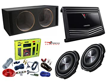 Hook up two powered subwoofers