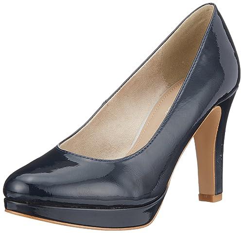 22410, Zapatos de Tacón para Mujer, Blanco (White Struct.), 36 EU s.Oliver