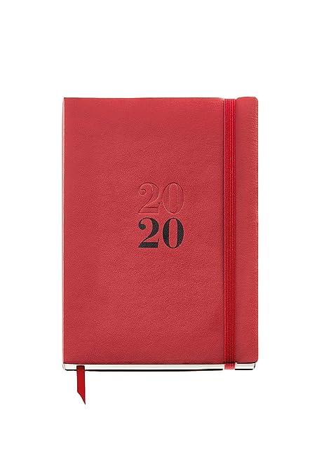 Miquelrius 22045 - Agenda 2020, Semana Vista Vertical (155 x 213 mm), sobremesa, Luxor Rojo, Castellano