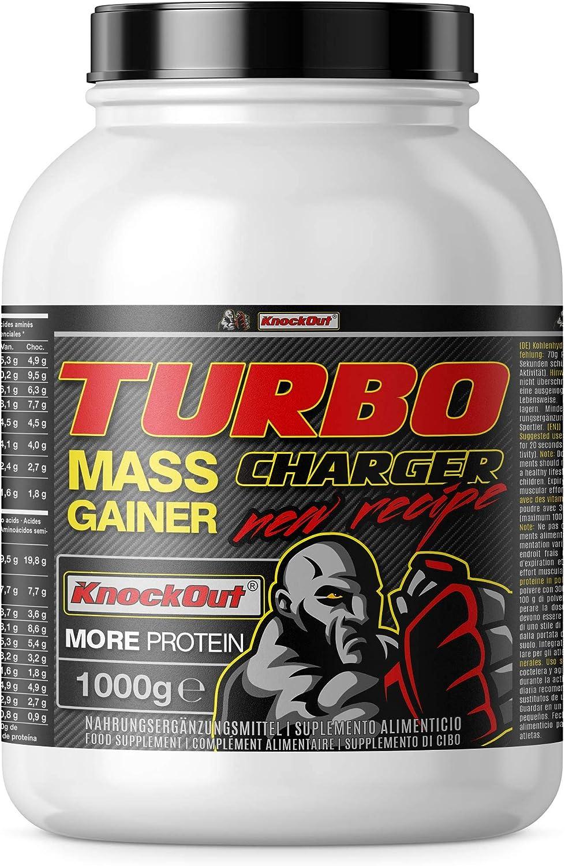 Turbo Charger Weight Gainer, proteínas e hidratos de carbono, la masa muscular y el crecimiento muscular, 4000g chocolate