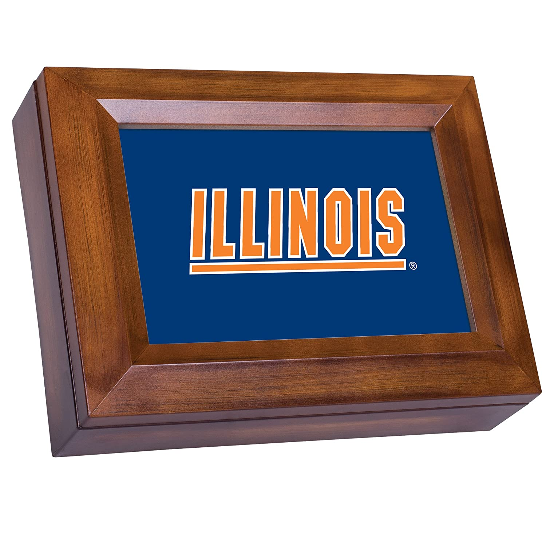 【メール便不可】 Collegiate Music Jewellery Box Jewellery Finish: Wood of Grain, NCAA Team: Collegiate University of Illinois B00BRX6NTG, PEACESHOP:cb27529c --- arcego.dominiotemporario.com