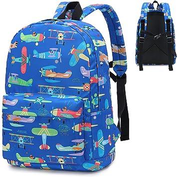 73cf6fae6 Preschool Backpack Boys Girls Kids Backpack Kindergarten Toddler School  Bookbags (Airplane-Dark Blue)