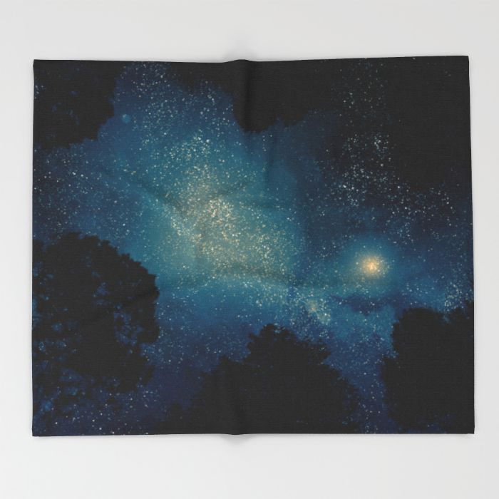 Stars & Trees Throw Blanket by EclipseLio | Society6