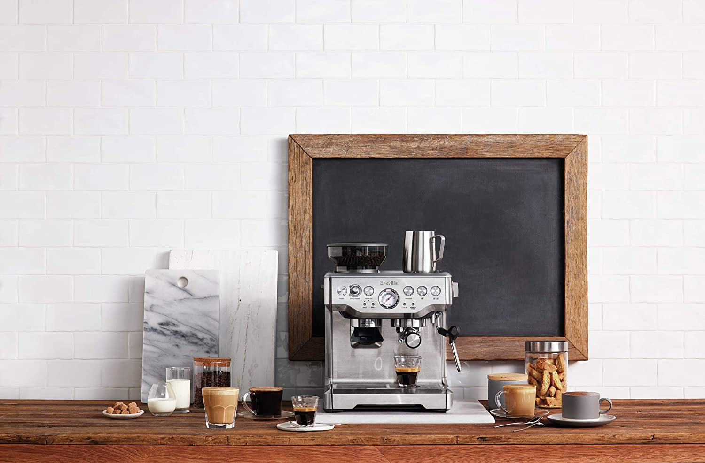 Breville BES870XL 複合式研磨義式咖啡機 銀色 Barista Express Espresso Machine