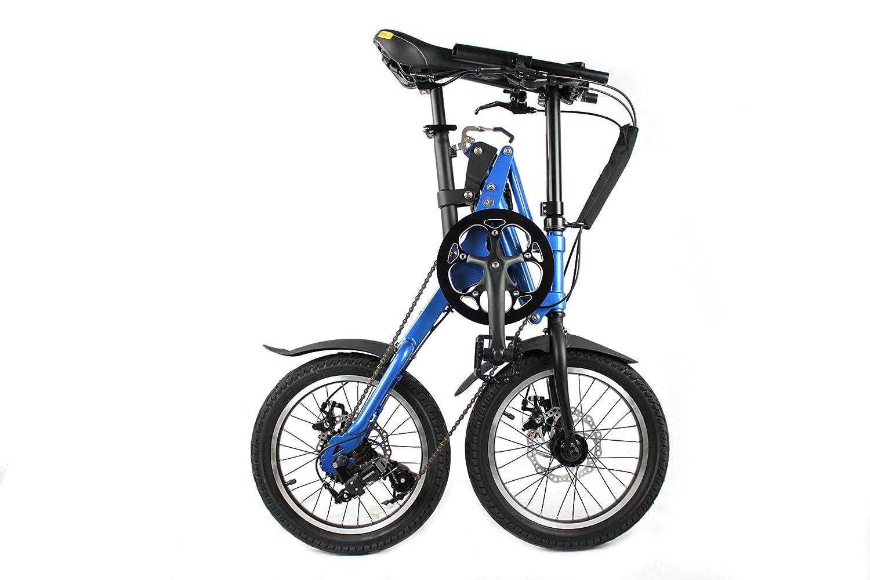 xite3 bicicleta plegable,, bicicleta plegable bicicleta plegable para bicicleta, 16 pulgadas, 7 marchas Shimano, color azul, tamaño 16inch, tamaño de rueda ...