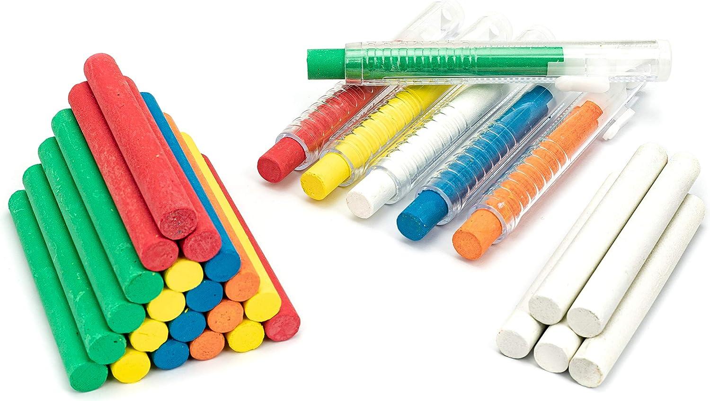 6 Colors Dustless Chalk mit Chalk Holder, Washable Kunst spielen für Kid, Paint auf School Classroom Chalkboard, Kitchen, Playground, Gift für Birthday Party,6 Pack (White, Orange,Yellow,Red, Blue,Green)