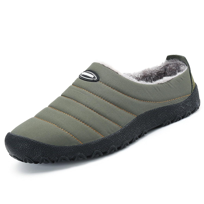 51db30dee7502 SAGUARO® Outdoor Coton Peluche Pantoufles Femme Homme Hiver Chaussons Mules…