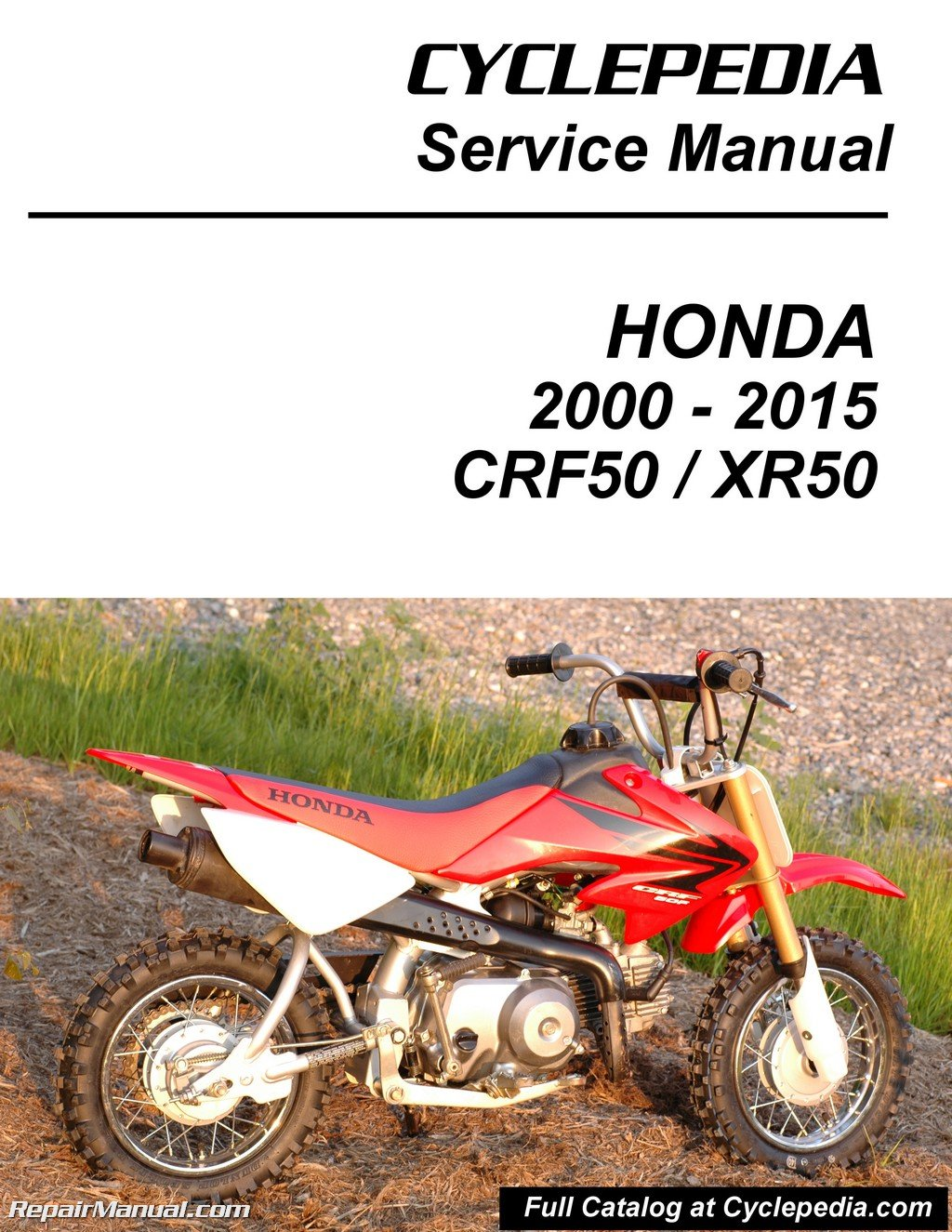 cpp-120-p-color honda xr50 crf50 motorcycle cyclepedia printed color -  service manual paperback – 2015