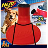 Nerf Dog Stomper with Interactive Tennis Ball Launcher, Great for Fetch, Launches up to 75 ft, Single Unit, Red and Blue…
