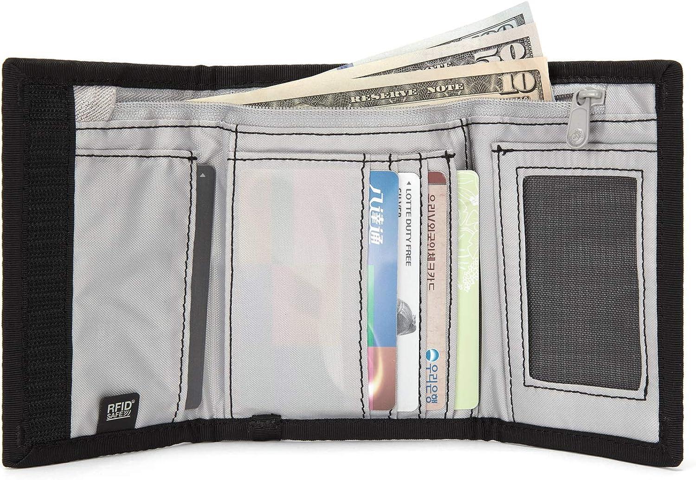 Pacsafe RFIDsafe Z50 RFID Blocking Tri-fold Wallet - With 6 Card Slots, Black