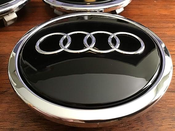 Radzierkappe Original Audi Nabenkappe Tuning Deckel Für Alufelgen Schwarz Glänzend Auto