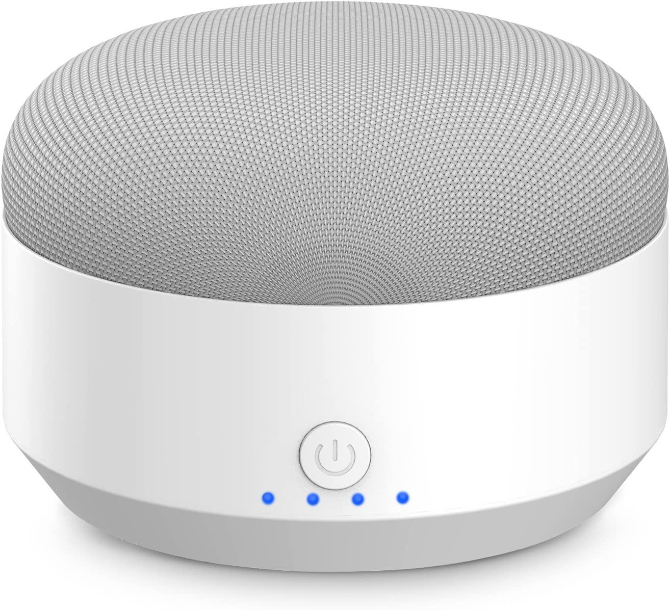 Portable External Battery Base for Google Home Mini, KASMOTION Google Home Mini Voice Assistant, Rechargeable Accessories, Magnetic Base& Anti-Slip Rubber Pads(White)-Home Mini is Not Included