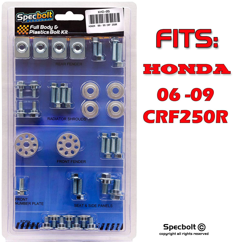 CRF250R 2006-2009 Specbolt Fasteners Full Body /& Plastics Honda Bolt Kit #05