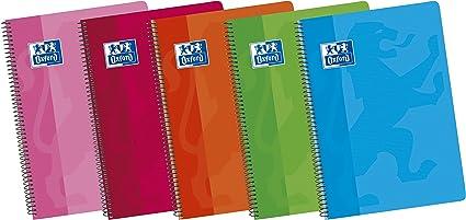 Oxford Classic 100430166 - Pack de 5 cuadernos espiral de tapa ...