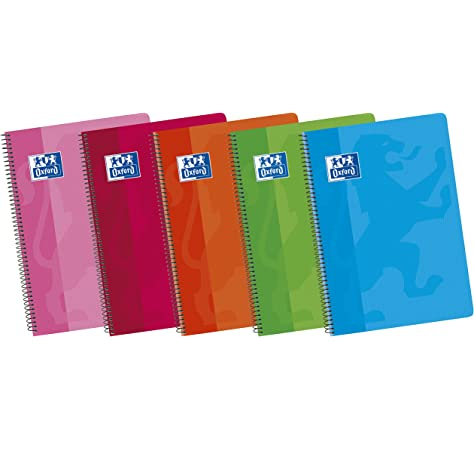 Oxford 400044180 Classic - Pack de 5 cuadernos espiral con tapa de ...
