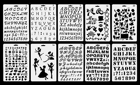 Vancool plastic alphabet bullet journal stencil template set of 10 vancool plastic alphabet bullet journal stencil template set of 10 with letters number alphabet perfect spiritdancerdesigns Image collections