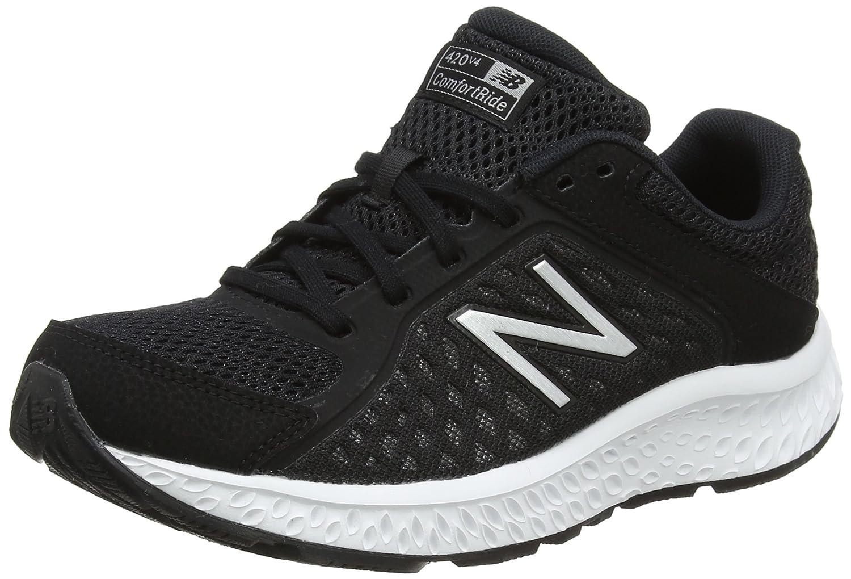New Balance Women's 420v4 Cushioning Running Shoe B06XSD6HQY 8 B(M) US|Black/Silver