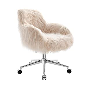 Linon OC050FLOK01U Chair, Chrome