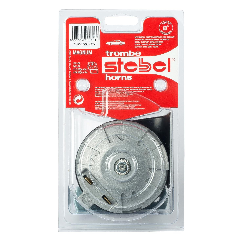 Stebel TM80//1/Magnum 12/V Black Clacson 500/Hz