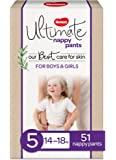 Huggies Ultimate Nappy Pants, Unisex, Size 5 (14-18kg), 51 Count
