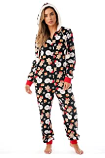 71db49af40 Just Love Holiday Ugly Christmas Adult Onesie Pajamas