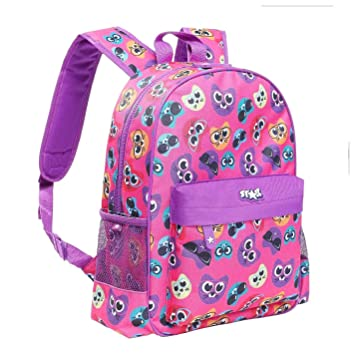 dc8cddffced0 Star Cool Cats Graphic Backpack Pink School Bag Holdall Rucksack One Size