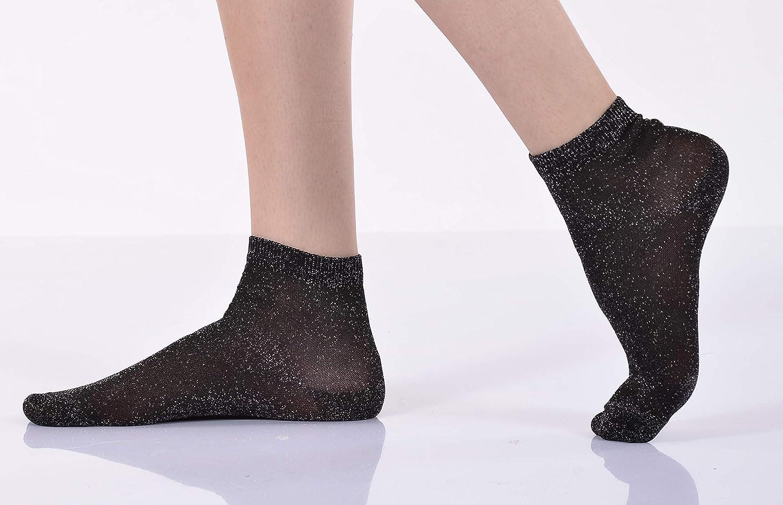 PiriModa 12 paia di calze da donna calzini eleganti 40 calze corte calzini da sneaker 35 glitterate