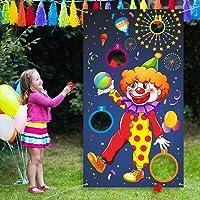 Carnival Toss Games Clown Banner con 3 Bean