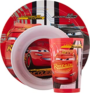 Zak Designs CRSG-0391 Cars 3 Plate-Bowl-Tumbler 3 Piece Window box  sc 1 st  Amazon.com & Amazon.com: Zak Designs Paw Patrol 3-piece Plastic Plate Bowl u0026 Cup ...