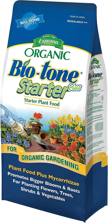 Espoma Bio-Tone Starter Plus Plant Food, Natural & Organic Fertilizer for All Plants, 4 lb, Pack of 2