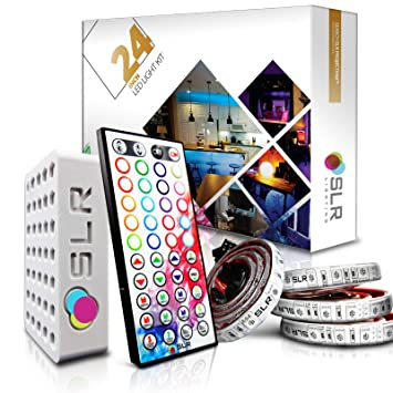 Amazon 4pc multi color rgb led strip kit 24 inch pre cut 4pc multi color rgb led strip kit 24 inch pre cut accent aloadofball Image collections