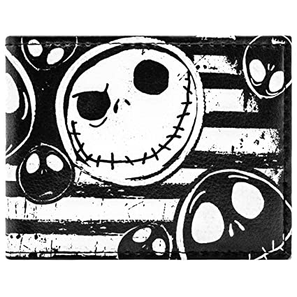 Cartera de Jack Nightmare Before Christmas Rayas Negro ...