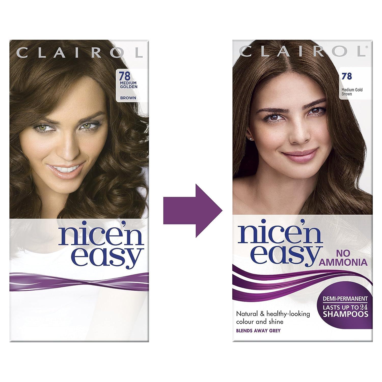 Clairol Nicen Easy Semi Permanent Hair Dye No Ammonia 83 Natural