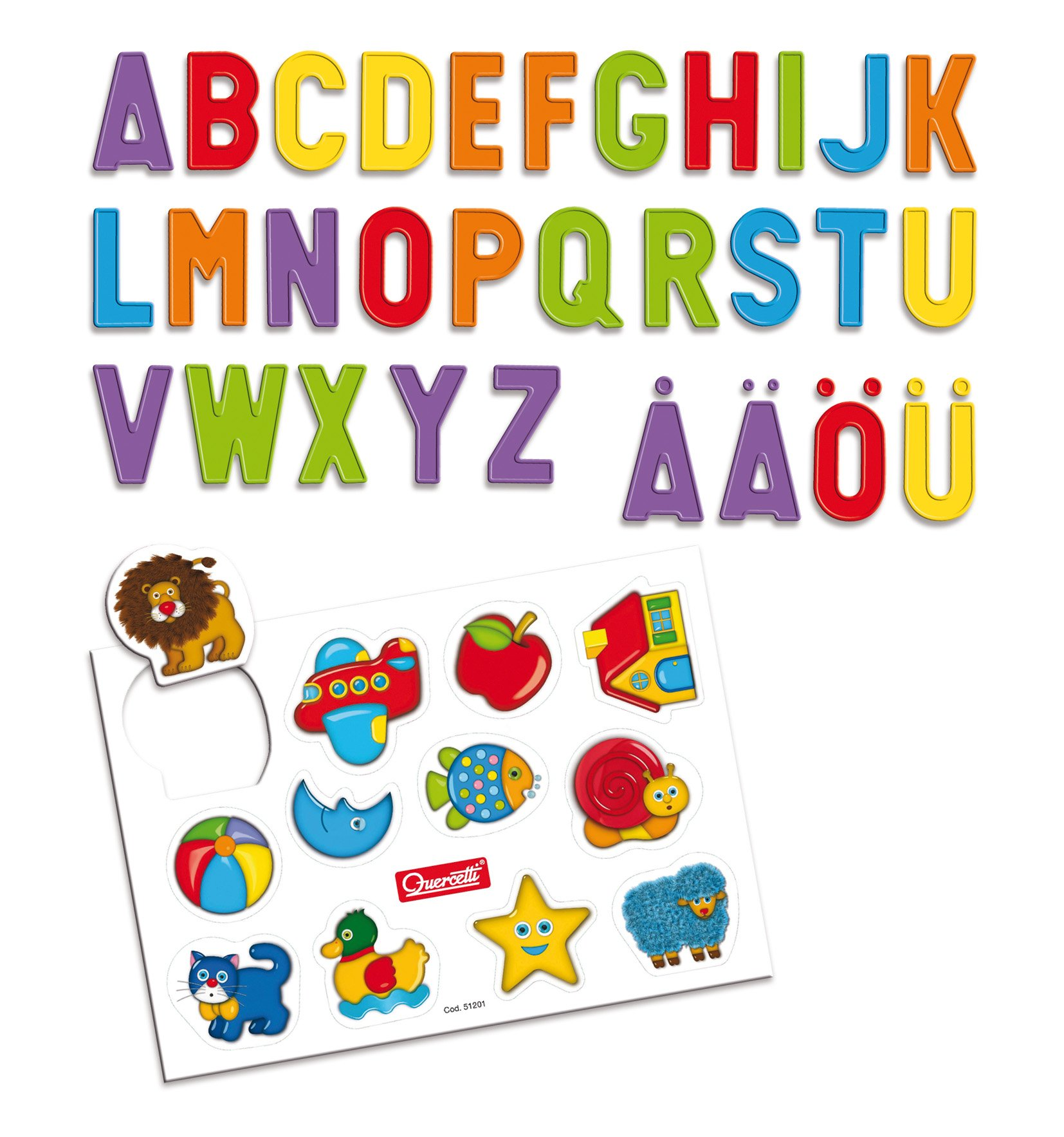 Quercetti Magnetic Letter Tablet - 66 Pieces